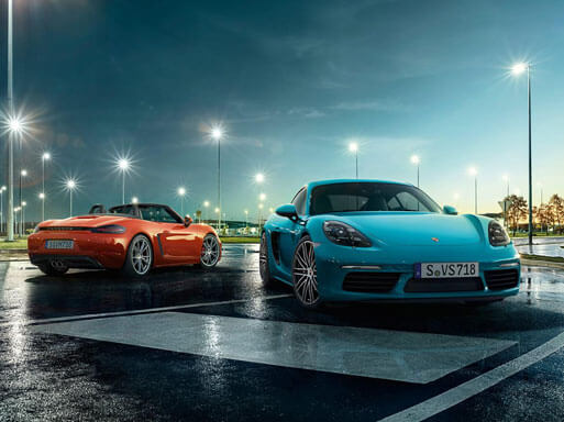 For the sport of it. The new 718 Cayman and 718 Boxster.